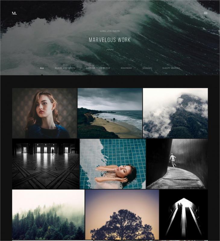 photographer website templates
