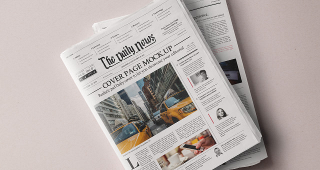 newspaper graphic template