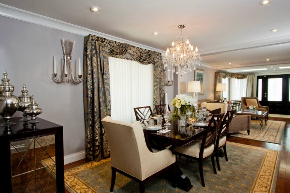 Black White And Silver Striped Wallpaper 23 Dining Room Chandeliers Designs Decorating Ideas