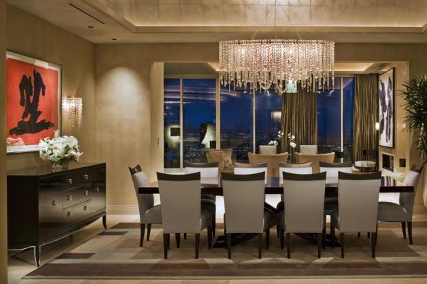 rectangular chandelier design dining room