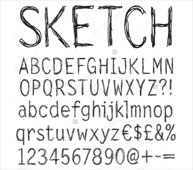 20 sketch fonts ttf otf download