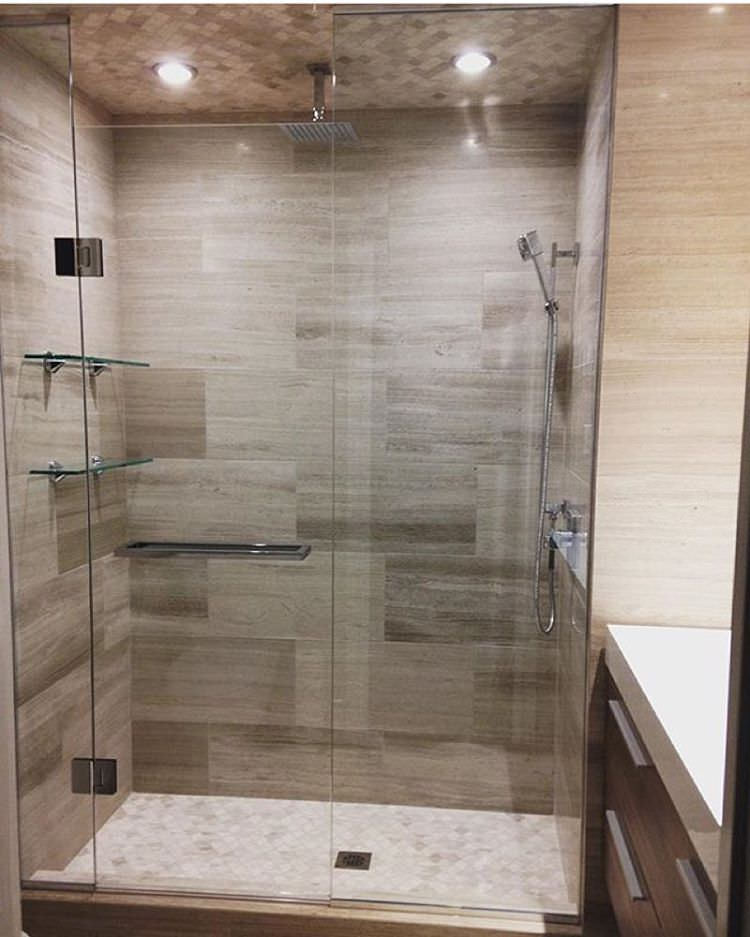 Bathroom Shower Glass Ideas 24+ Bathroom Glass Shelves Designs, Ideas | Design Trends