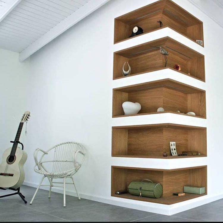 23+ Corner Wall Shelf Designs Furniture Designs Design Trends - living room corner shelf