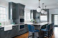 24+ Grey Kitchen Cabinets Designs, Decorating Ideas ...