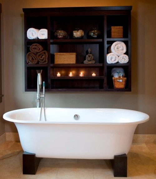 Medium Of Wall Shelf Ideas For Bathroom
