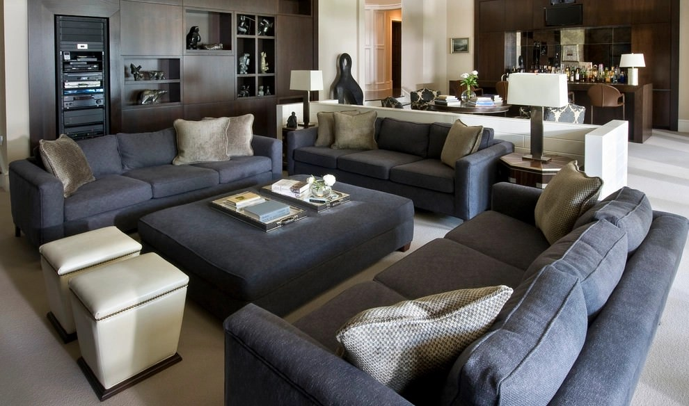 24+ Gray Sofa Living Room Furniture, Designs, Ideas, Plans - gray living room furniture sets