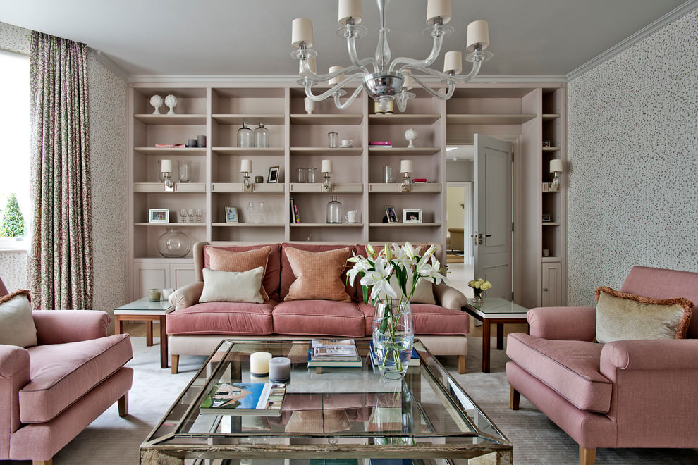 Chesterfield Sofa Beige 20+ Pink Living Room Designs, Decorating Ideas | Design