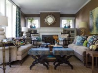 20+ Blue and Brown Living Room Designs, Decorating Ideas ...