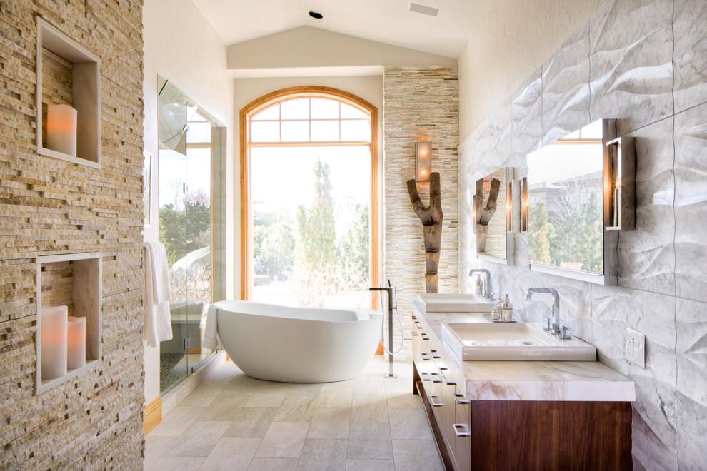 3d Grey Stone Wallpaper 25 Spa Bathroom Designs Bathroom Designs Design