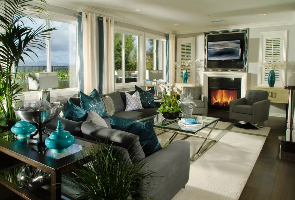 22+ Teal Living Room Designs, Decorating Ideas Design Trends - teal living room ideas