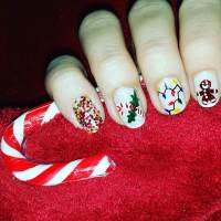 Candy Cane Nail Design Tutorial - Nail Ftempo