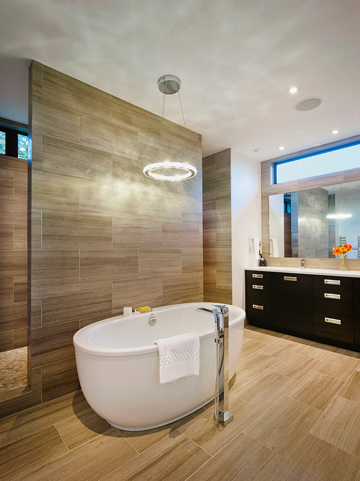 Badfliesen Weiß Grau 23+ Brown Bathroom Designs, Decorating Ideas | Design