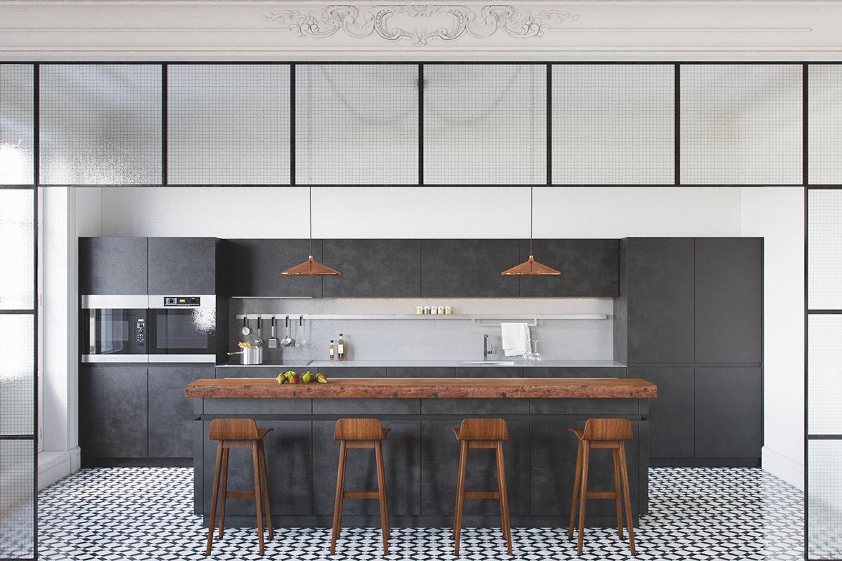 contemporary kitchen designs contemporary kitchen design Tiled Contemporary Kitchen Design
