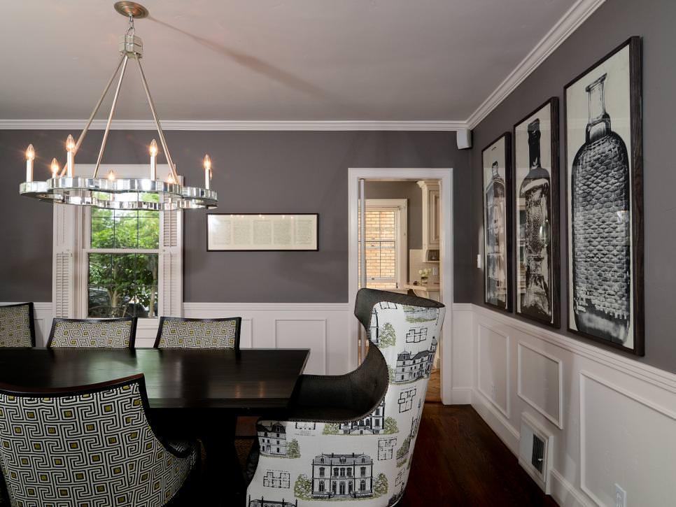 Black Beadboard Wallpaper 25 Grey Dining Room Designs Decorating Ideas Design