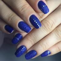 25+ Dark Blue Nail Art Designs, Ideas   Design Trends ...
