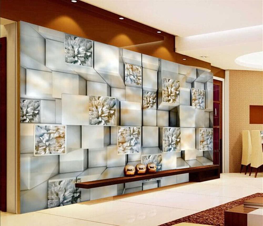 3d Effect Wallpaper For Living Room 25 Cool 3d Wall Designs Decor Ideas Design Trends
