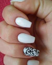 27+ White and Black Nail Art Designs, Ideas | Design ...