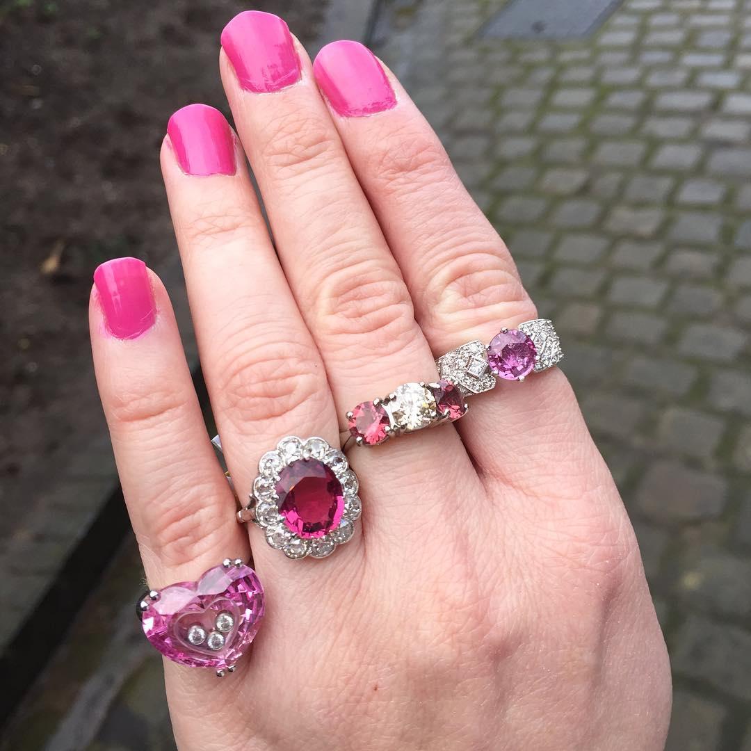 pink diamond engagement rings pink diamond wedding band Different Pink Diamond Rings