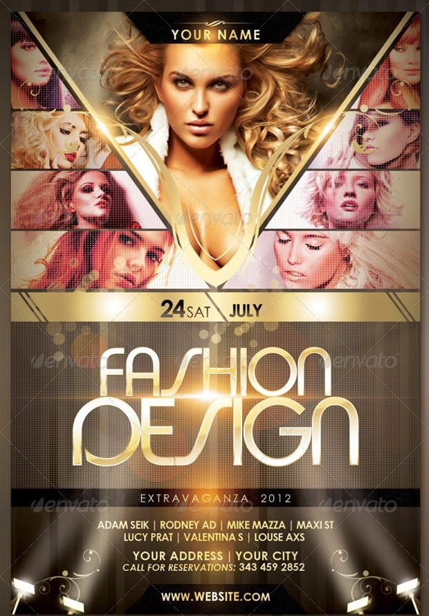 21+ Fashion Flyer Designs, PSD Download Design Trends - Premium - fashion poster design
