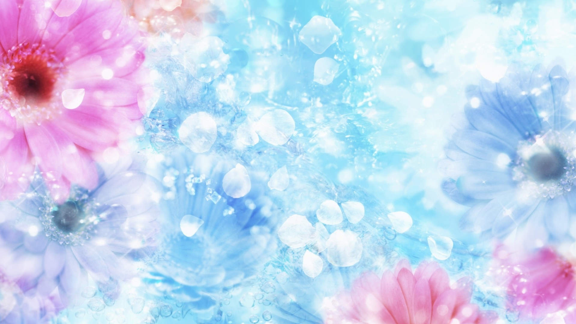 Drops Rainbow 3d Wallpaper 29 Bright Backgrounds Wallpapers Images Design Trends