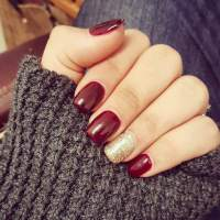 27+ Red and Gold Nail Art Designs, Ideas | Design Trends ...