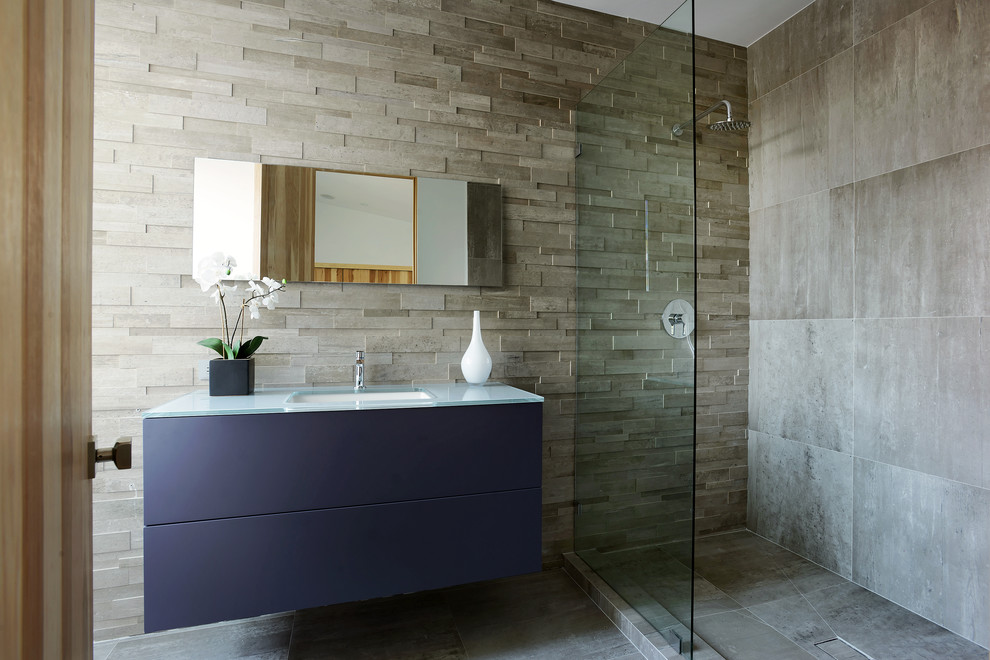 3d Wallpaper Or Wall Panel Or Wall Panels Stacked Stone 24 Glass Shower Bathroom Designs Decorating Ideas