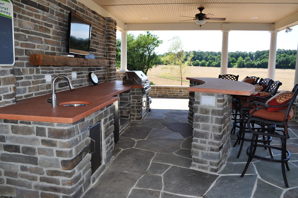 22+ Outdoor Kitchen Bar Designs, Decorating Ideas Design Trends - outside kitchen ideas