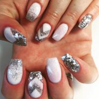 24+ Silver Acrylic Nail Art Designs, Ideas | Design Trends ...