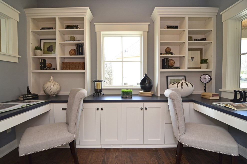 21+ Gray Home Office Designs, Decorating Ideas Design Trends - home office design ideas