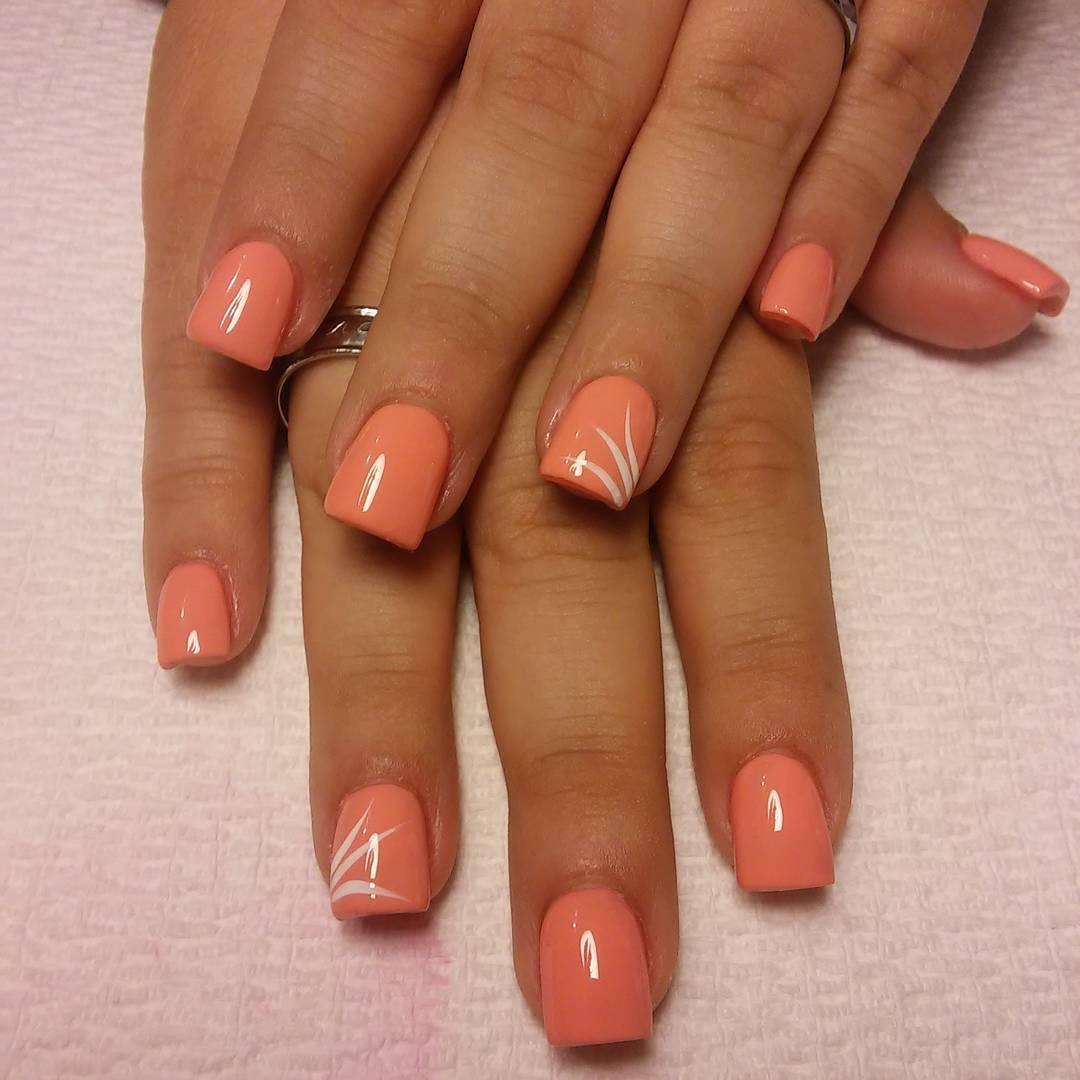 21+ Peach Nail Art Designs, Ideas