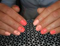 21+ Peach Nail Art Designs, Ideas