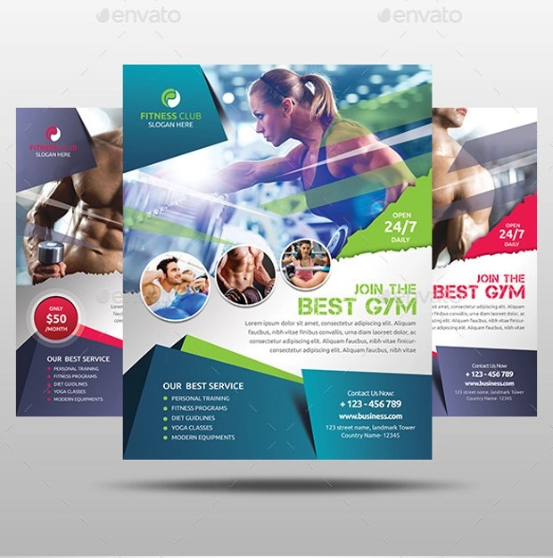 fitness flyer design - Bire1andwap