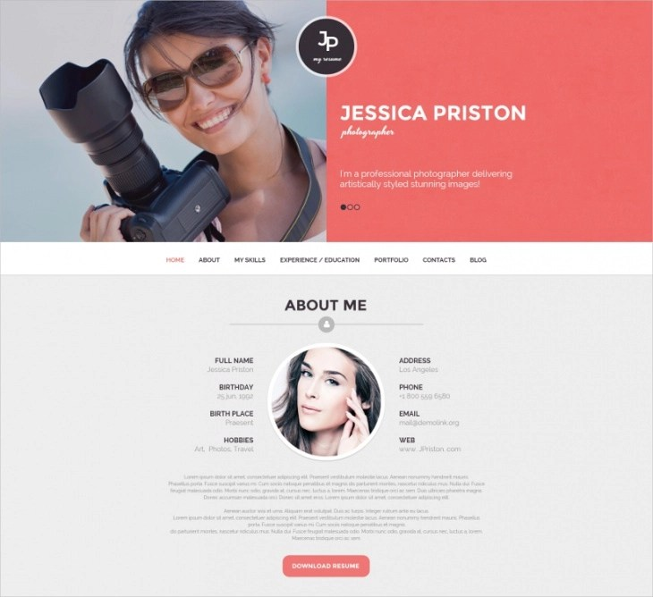 cv template for photographer - Alannoscrapleftbehind