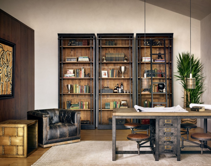 21+ Industrial Home Office Designs, Decorating Ideas Design - home office design ideas