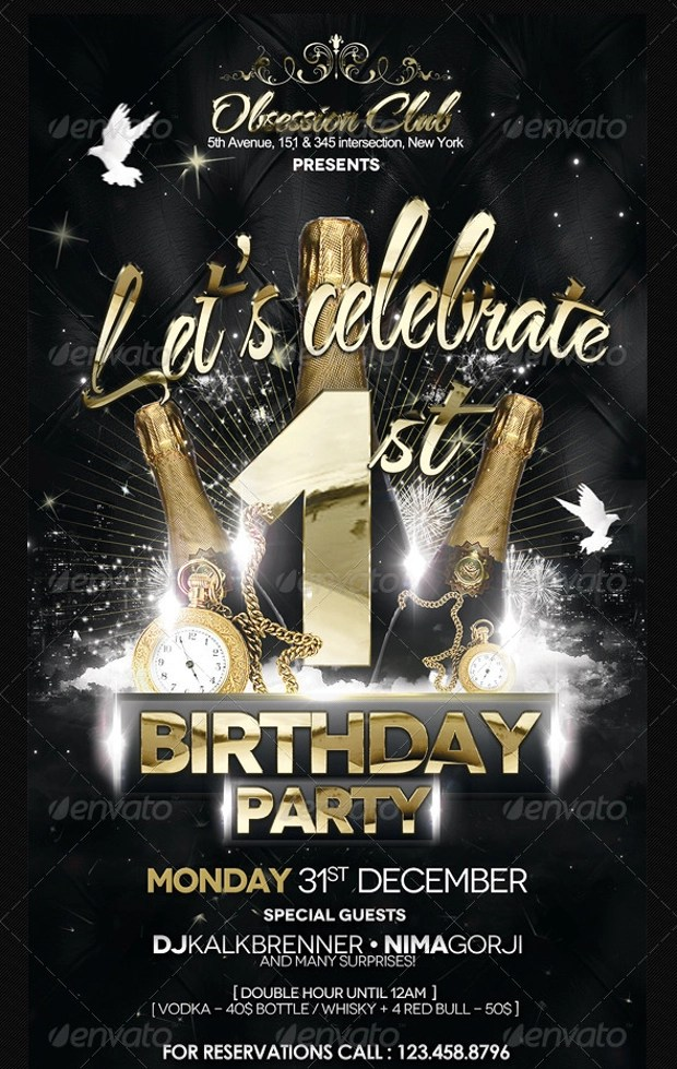 25+ Birthday Party Flyer Design, PSD Download Design Trends