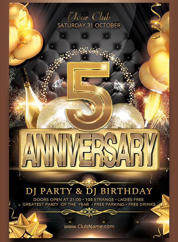 25+ Birthday Party Flyer Design, PSD Download Design Trends