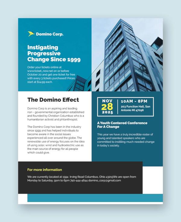 37+ Conference Flyer Designs - PSD Design Trends - Premium PSD