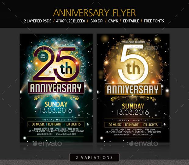 celebration flyer template