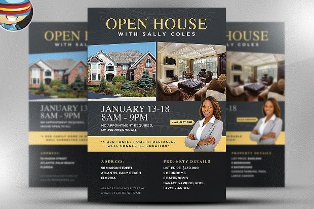 open house template word