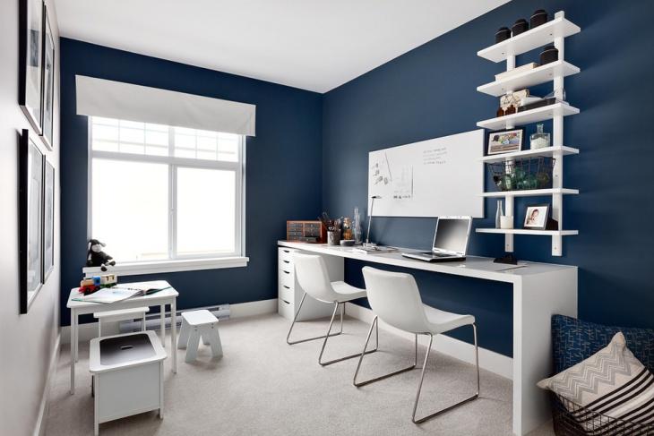 21+ Blue Home Office Designs, Decorating Ideas Design Trends