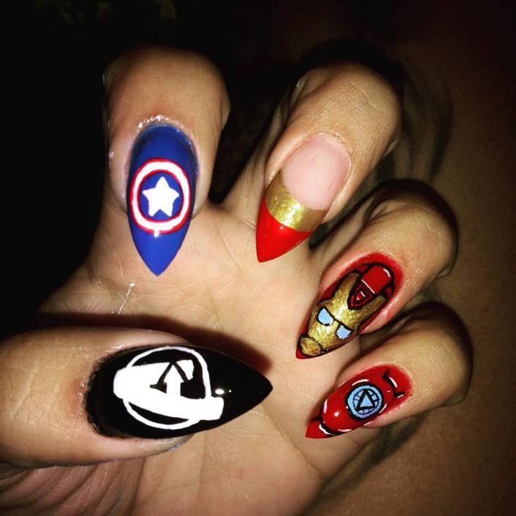 20 Avengers Nail Art Designs Ideas Design Trends