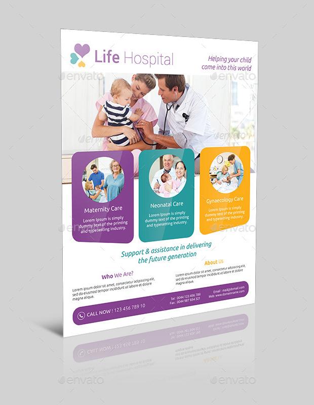 18+ Hospital Flyer Templates - Printable PSD, AI, Vector EPS Format - web flyer