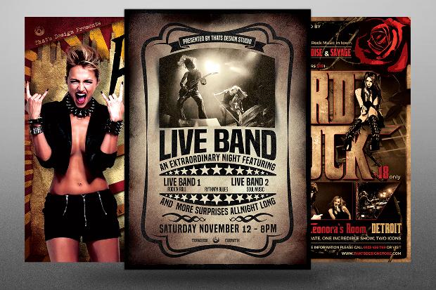make a band flyer in photoshop - Klisethegreaterchurch - band flyer template
