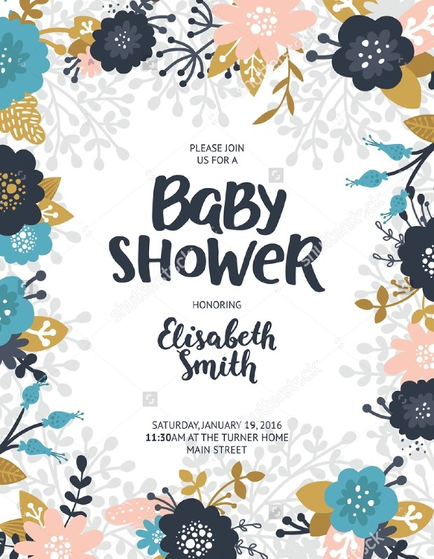 baby shower flyer template free - Ozilalmanoof - baby shower flyer template free