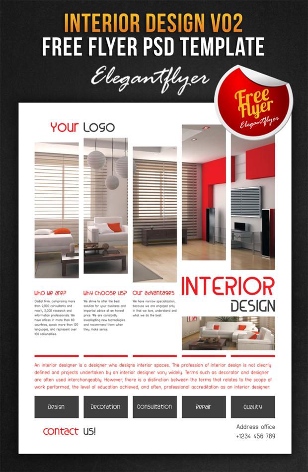 18+ Interior Design Flyer Designs and Templates Download Design - design a flyer free