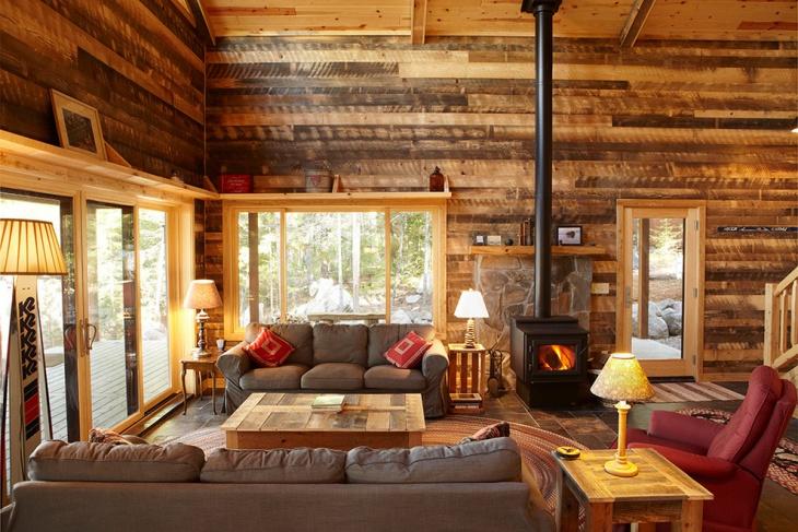 20+ Cabin Living Room Designs, ideas Design Trends - Premium PSD - log cabin living rooms