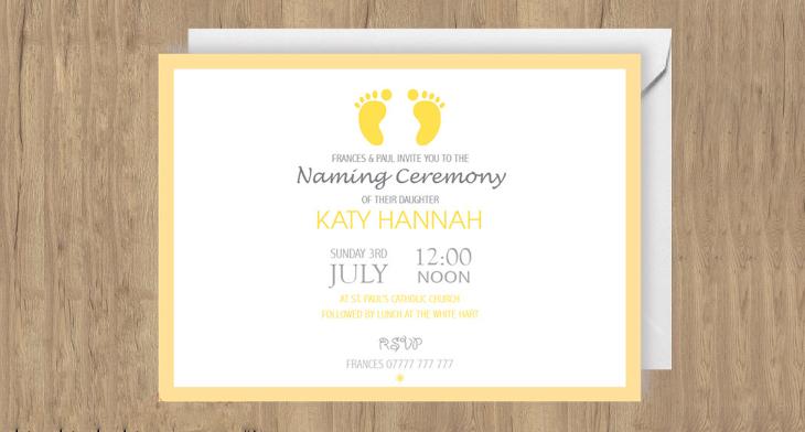 23+ Naming Ceremony Invitation Templates - Printable PSD, AI, Vector - invitation downloads
