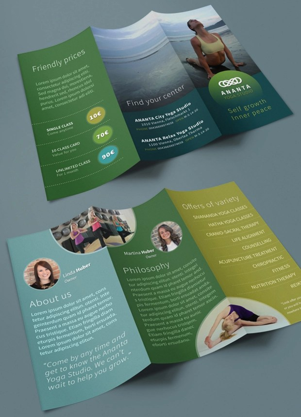 18+ Yoga Brochures - Free PSD, AI, InDesign, Vector EPS Format - studio brochure