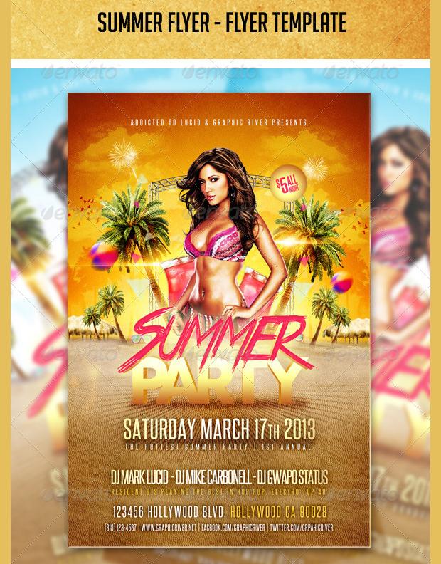 20+ Summer Party Flyer Templates - Printable PSD, AI, Vector EPS