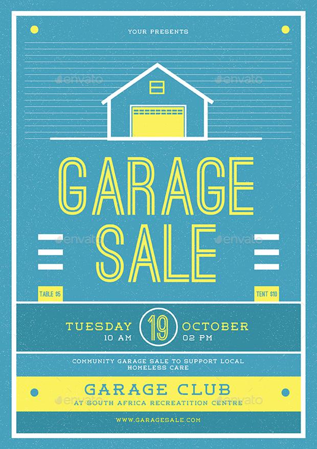12+ Garage Sale Flyer Templates - Printable PSD, AI, Vector EPS - yard sale flyer template